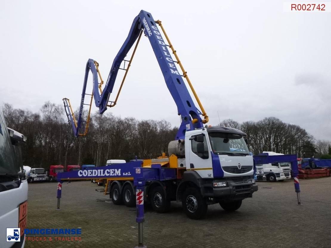 betonpomp vrachtwagen Renault Kerax 450 dxi 8x4 + Sermac 5Z41 pump 2008
