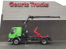 containersysteem vrachtwagen Renault MIDLUM HOOKLIFT + HIAB CRANE 4X STOCK 2007