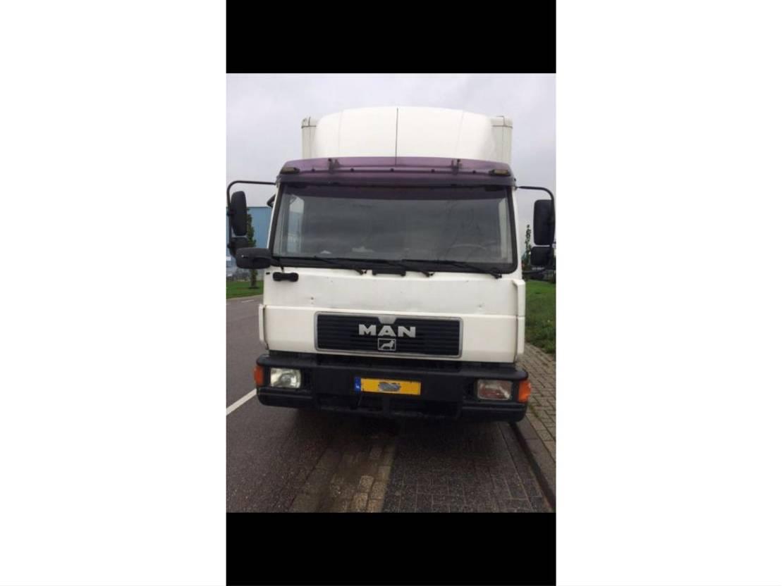 platform vrachtwagen MAN 8-163 1999
