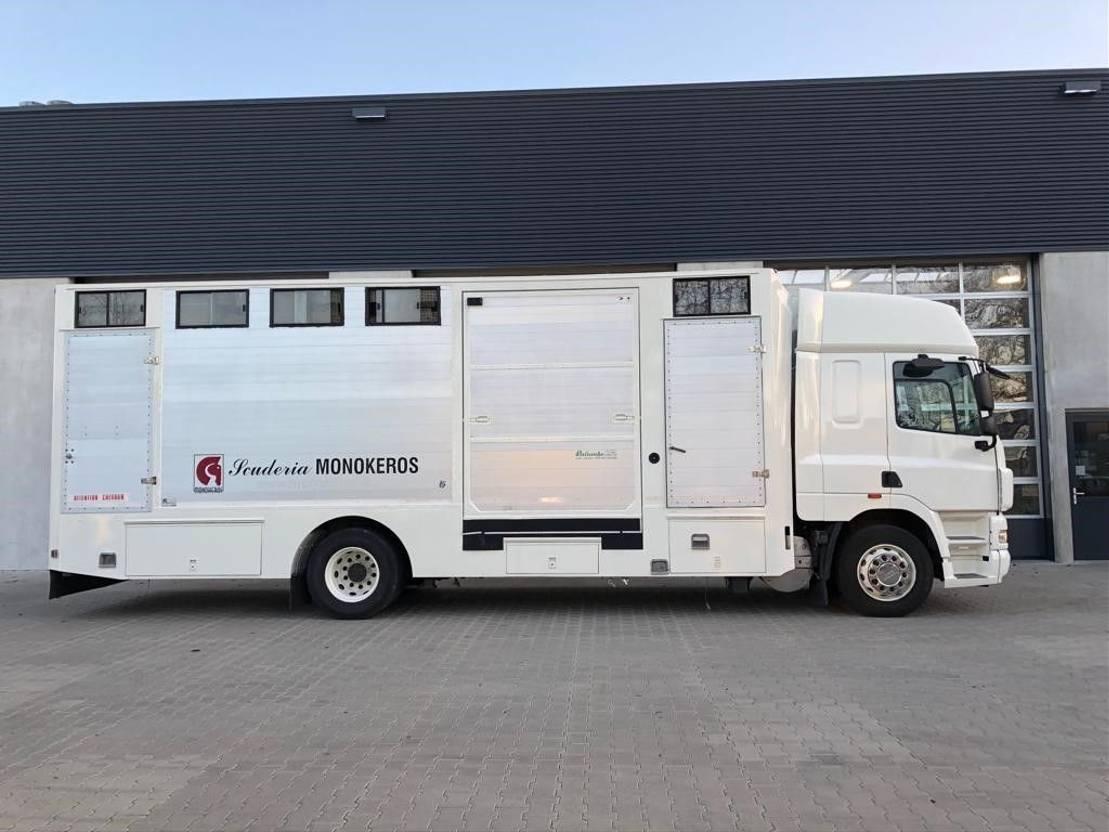 paardenvrachtwagen DAF CF 85 360 4x2 met 6-paards paardenbak 2007