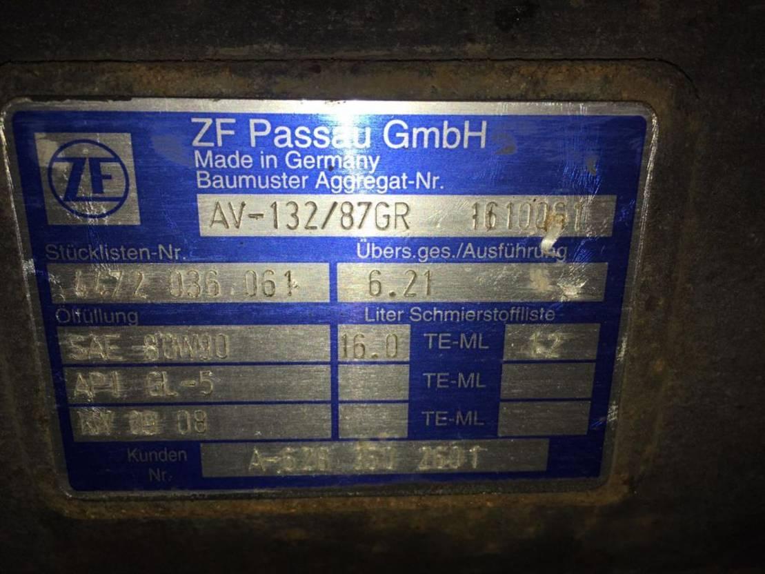 Achteras bus onderdeel ZF AV 132/87 Hinterachse Setra Citaro 4472 036 061