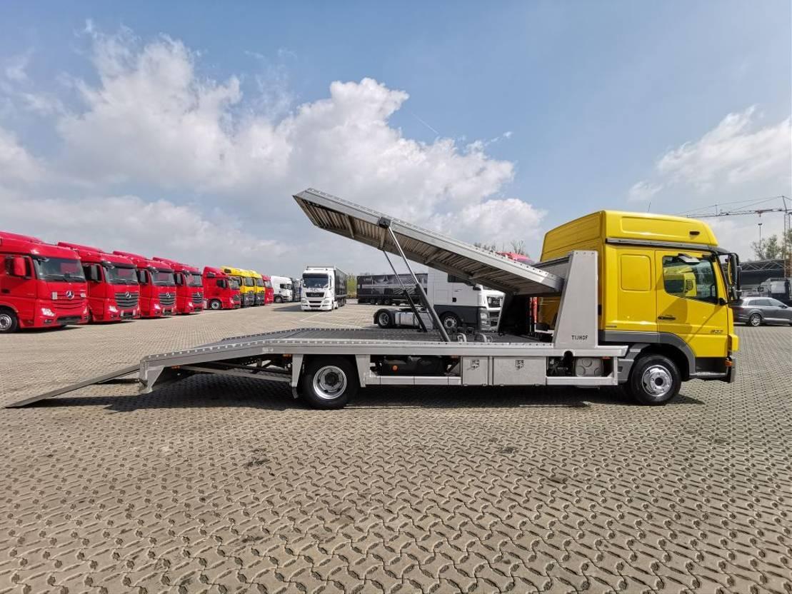 autotransporter vrachtwagen Mercedes Benz Atego 822 4x2 BL / 2 Autos / Euro 5 / TUV NEU! 2014