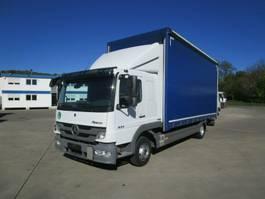 schuifzeil vrachtwagen Mercedes-Benz ATEGO 824 L Schlafkabine Pritsche/Pl. 6,10 m AHK 2013