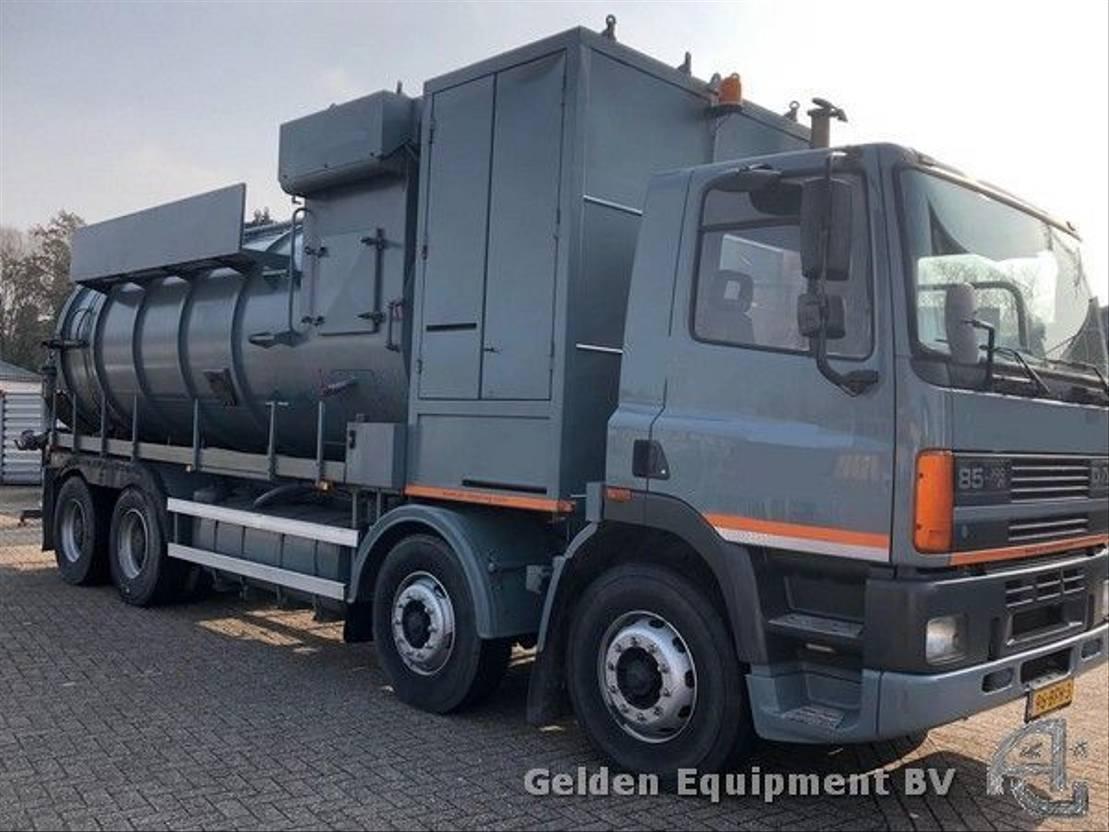 silo vrachtwagen DAF AD85WC droge stoffenwagen 1996