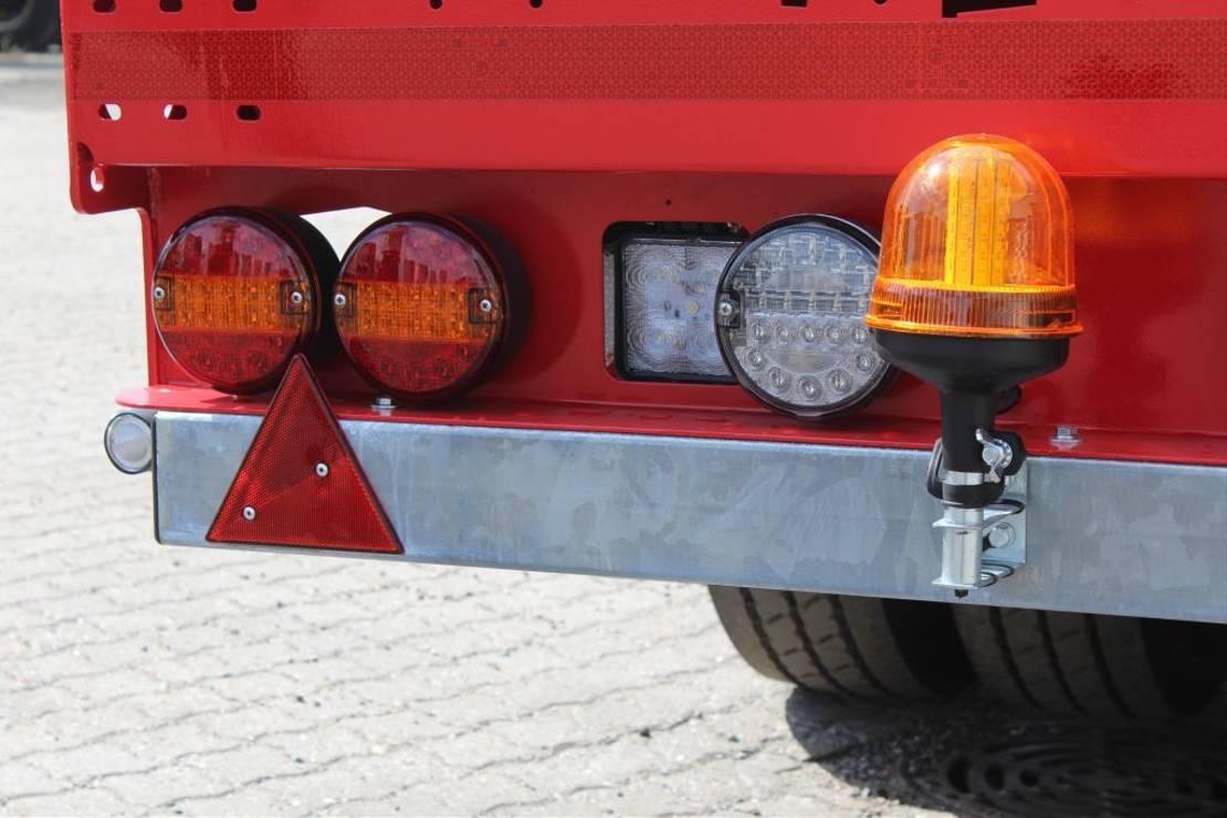 semi dieplader oplegger Hangler 4-axle lowloader