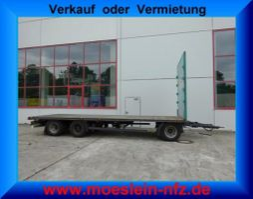 platte aanhanger vrachtwagen Krone ADP 27  3 Achs Jumbo- Plattform Anhänger 2014