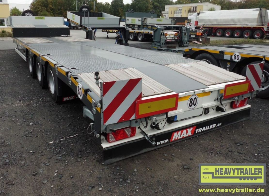 semi dieplader oplegger Faymonville Maxtrailer 3-Achs-Tele-Semi-Auflieger
