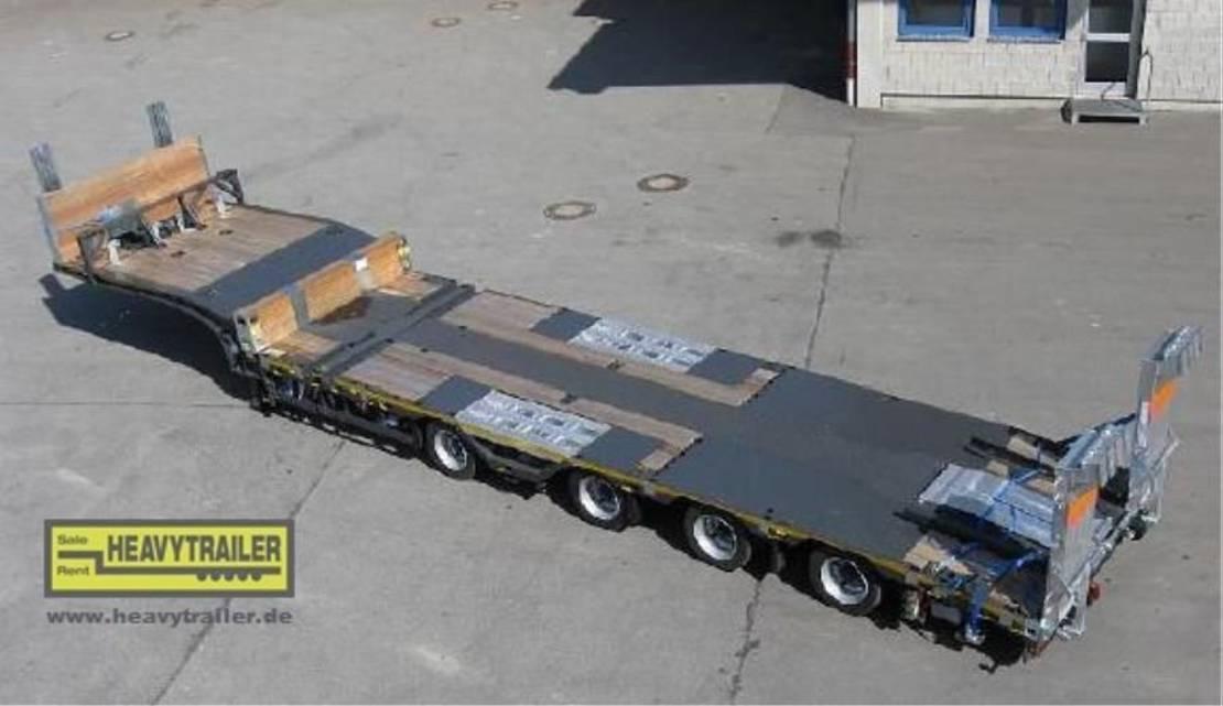 "semi dieplader oplegger Meusburger 4-Achs-Tele-Semi-Auflieger Bau ""Roadrunner"""