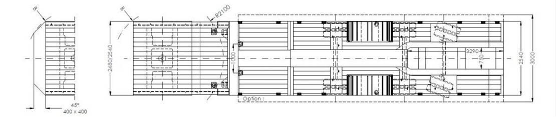 semi dieplader oplegger Faymonville 3-(1+2)-Achs-Semi mit Radmulden und hydr. Rampen