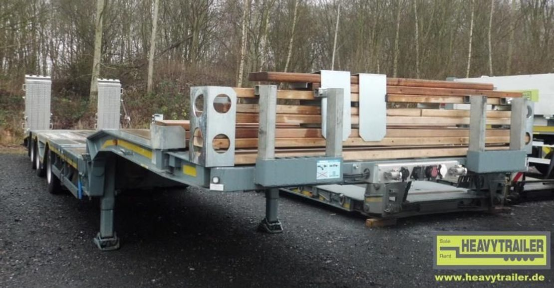 "semi dieplader oplegger Meusburger 3-Achs-Semi-Auflieger Bau ""Roadrunner"" 2015"
