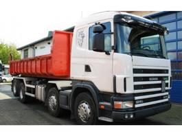 containersysteem vrachtwagen Scania R124 GB 470 8x2 Kettenabroller EURO 3 Retarder 2001