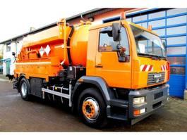 kolkenzuiger vrachtwagen MAN LE 18.280 4x2 Müller 9m³ Kipper Saug u. Druckfahrzeug ADR/GGVS+HD 2004