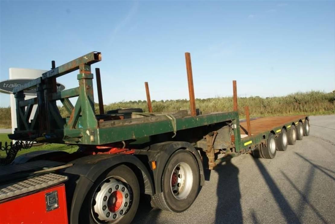 semi dieplader oplegger Nooteboom 5  axle semitrailer + extenbar 1985