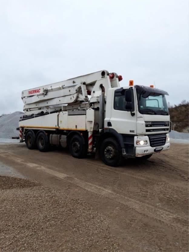 betonpomp vrachtwagen DAF CF 85 Sermac 5Z 41meters 2008