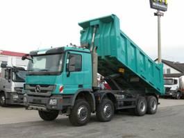 open laadbak vrachtwagen Mercedes Benz Actros 4141 8x8  4 Achs Muldenkipper Meiller 17m