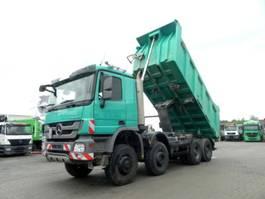 open laadbak vrachtwagen Mercedes-Benz Actros 4141 8x8 4 Achs Muldenkipper Meiller 17m³