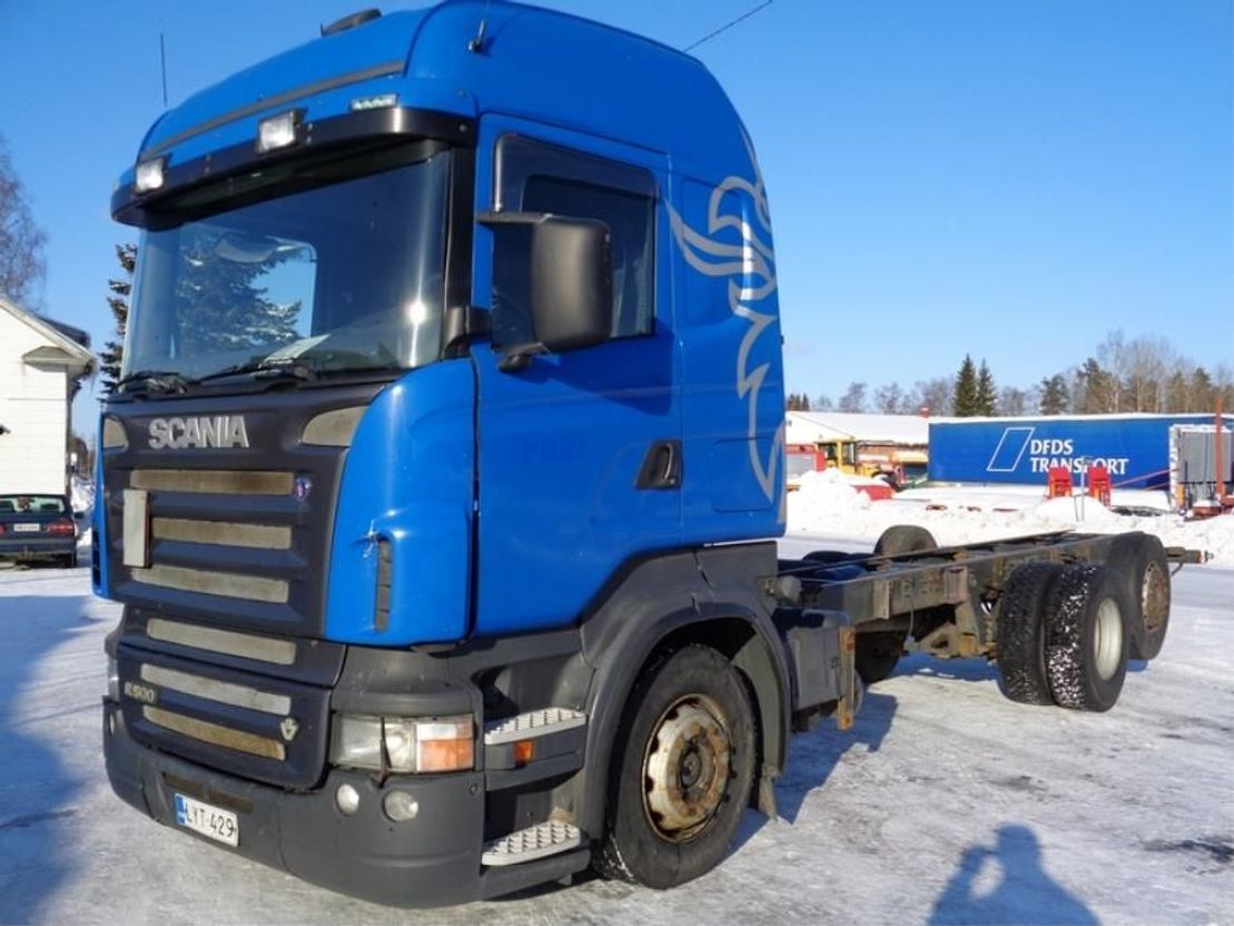 chassis cabine vrachtwagen Scania R500 V8 R-500 6X2 4900 2005