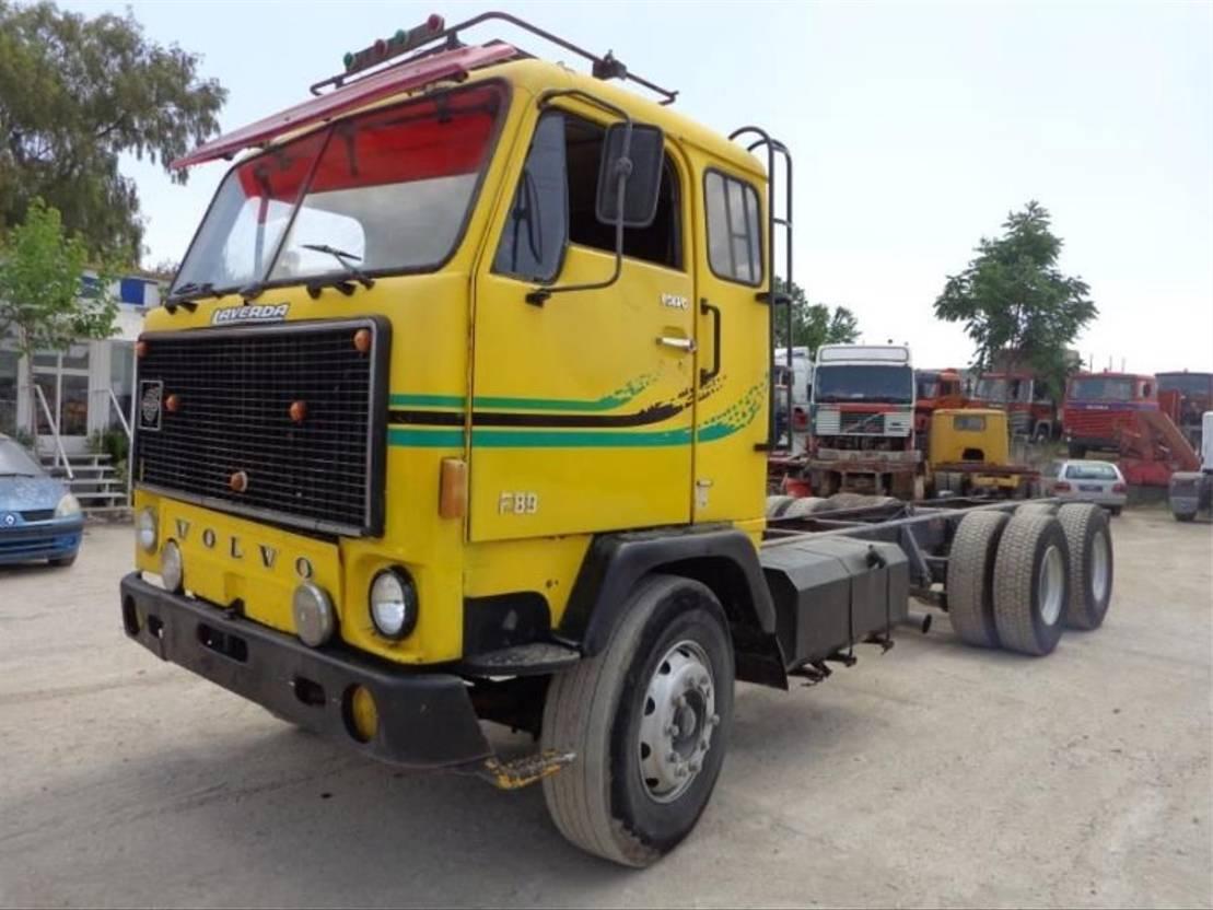 chassis cabine vrachtwagen Volvo VOLVO F89(6X2) SHASSIS&CABIN 1978