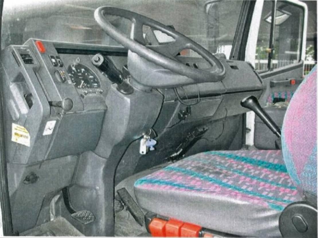 autotransporter vrachtwagen Mercedes-Benz L 817L 4x2 NSW/Umweltplakette Rot 1997