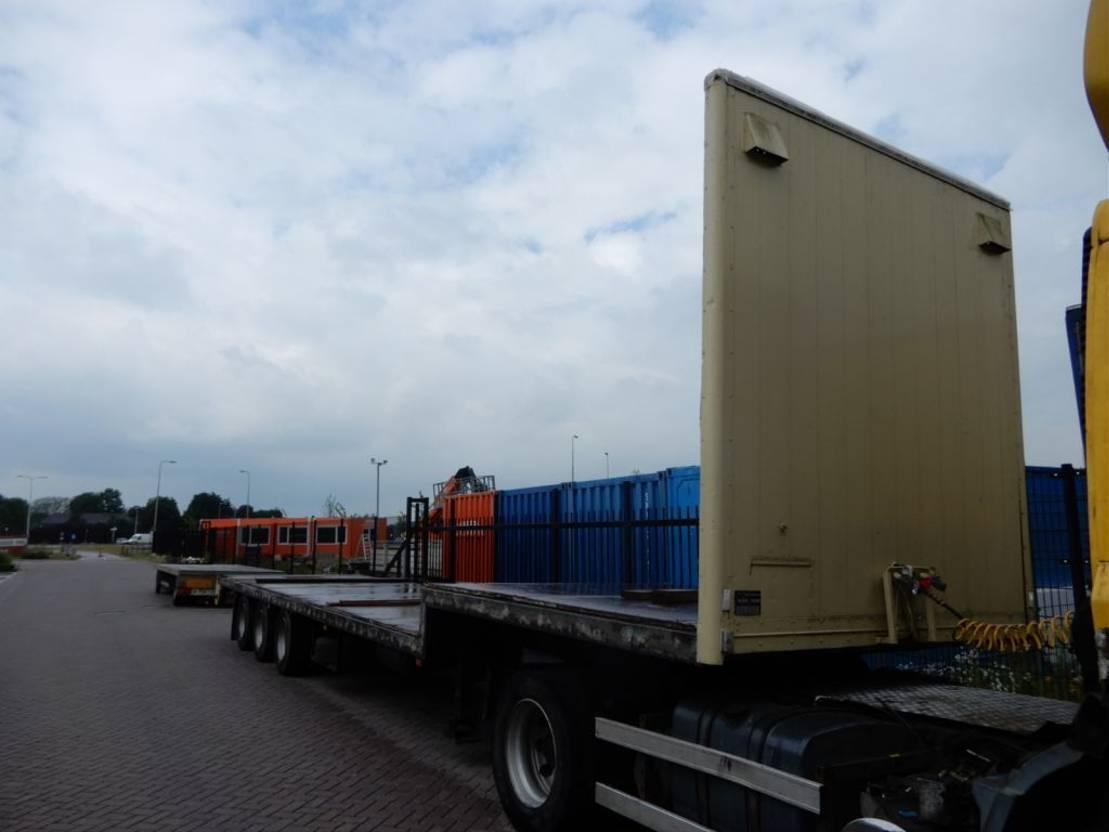 semi dieplader oplegger Knapen Trailers Semi-flat trailer / Double montage / BPW axles 1988