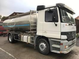 tankwagen vrachtwagen Mercedes-Benz SUSP A LAMES/LAMES ETA CITERNE EN INOX 2COMP 1998