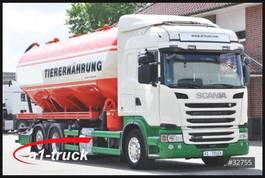 bandlosser vrachtwagen Scania G400 Köhler 32m³ Silo Futter Saug Pellets 2014