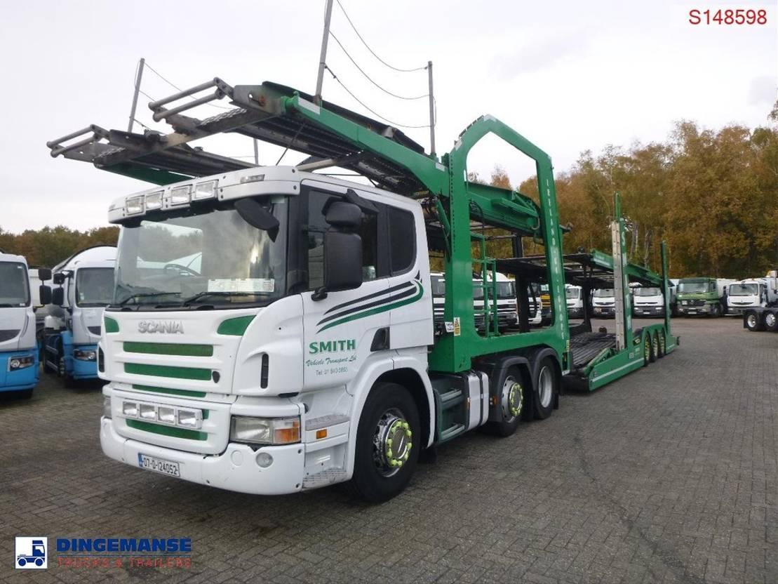 autotransporter vrachtwagen Scania P420 6x2 RHD Lohr car transporter 2007
