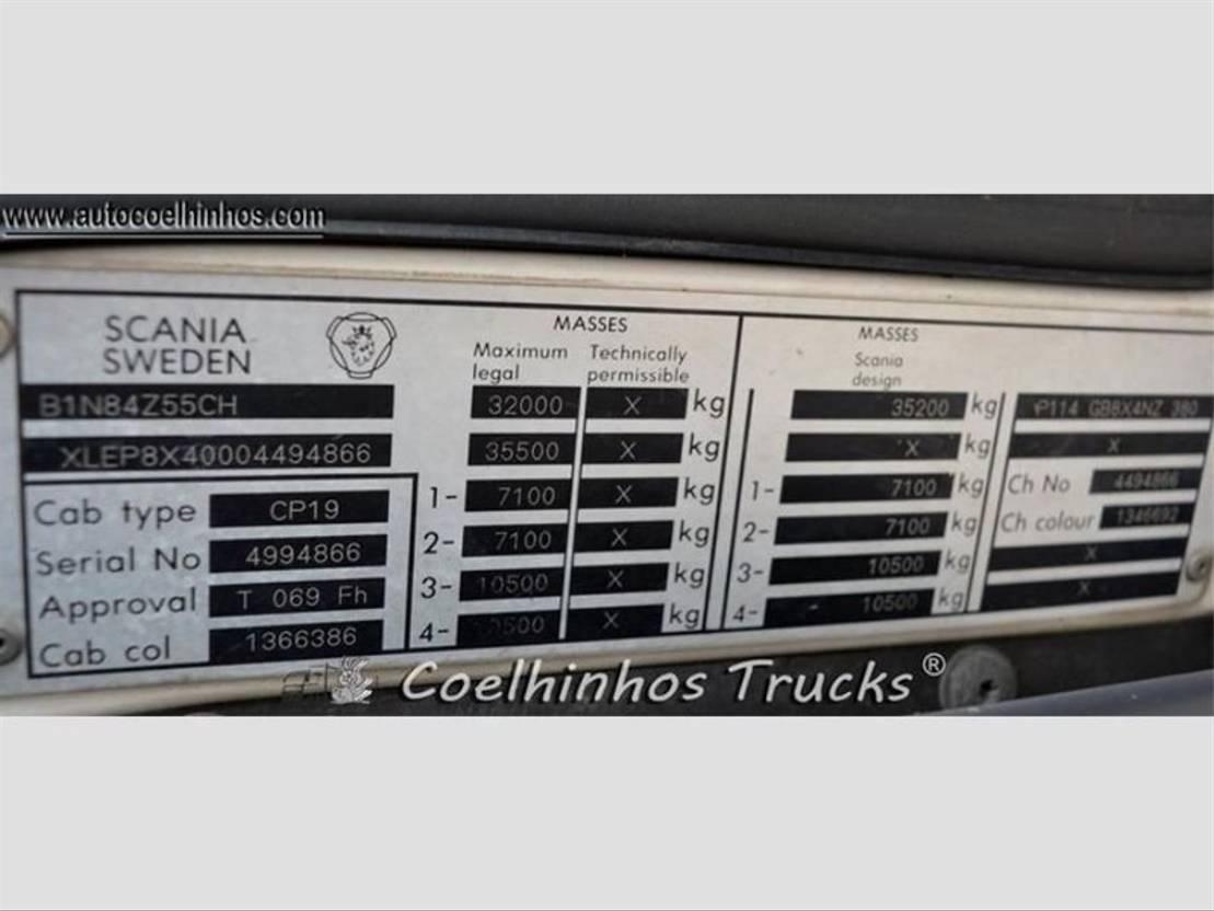 silo vrachtwagen Scania 114G 380 2003