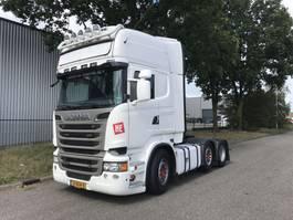 standaard trekker Scania R520 V8  euro 6 puscher  schuifschotel retarder, lease. 2014