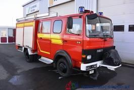 bakwagen vrachtwagen Magirus Deutz 75E16 A Mannschaft- Feuerwehr Löschpumpe Top 1986