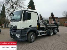 containersysteem vrachtwagen Mercedes Benz Arocs 2545 6x2 E6 Multilift Absetzkipper FTR 18 2018