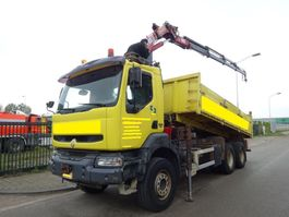 kipper vrachtwagen > 7.5 t Renault KERAX 420 DCI 6 X 4 KIPPER + HMF 1820 CRANE !! 2004