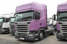 standaard trekker Scania R 410 Topline Hubsattelkupplung 2xTank ACC LDW 2015