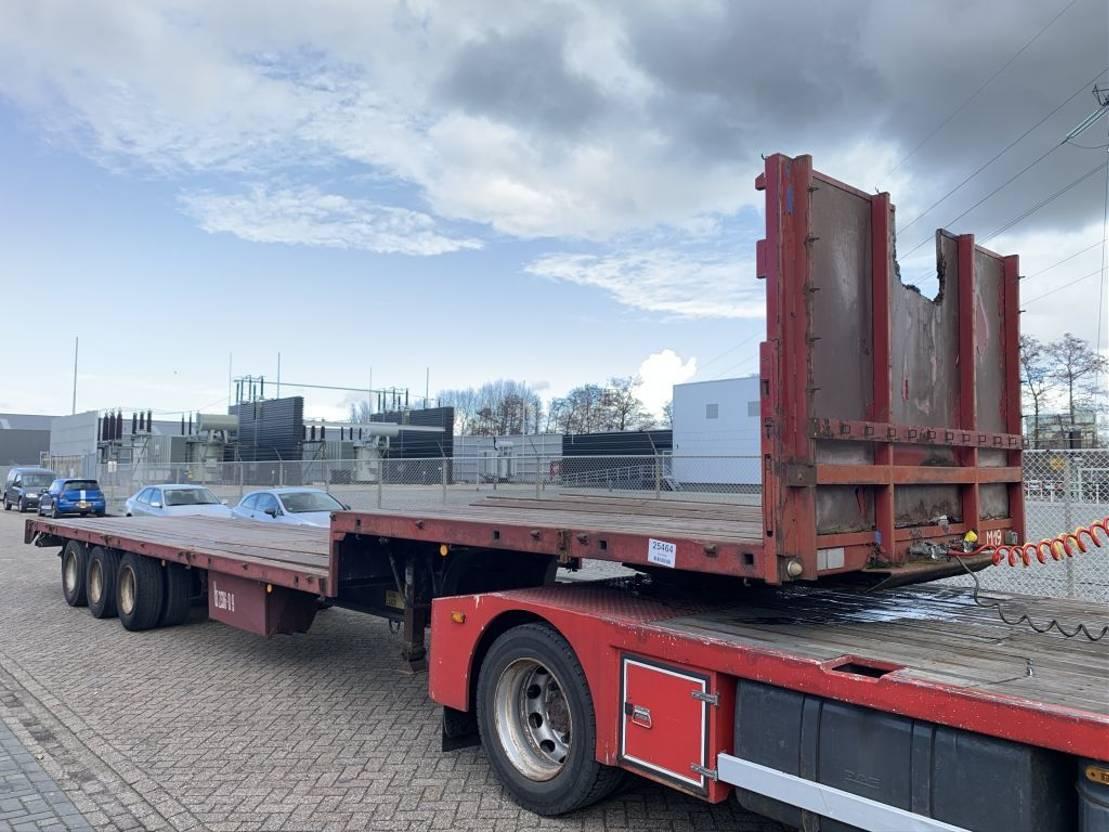 semi dieplader oplegger Groenewegen DZO 12-24 Semi low loader 3-axle Steel Springs