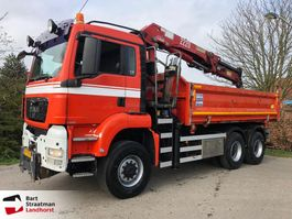 kipper vrachtwagen > 7.5 t MAN TGS 33.440 6X6 BB kipper met kraan manual 2008