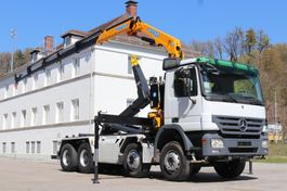 wissellaadbaksysteem vrachtwagen Mercedes-Benz Actros 3246 Neuer Kran Effer 150 8x4 E5 Leasing 2008
