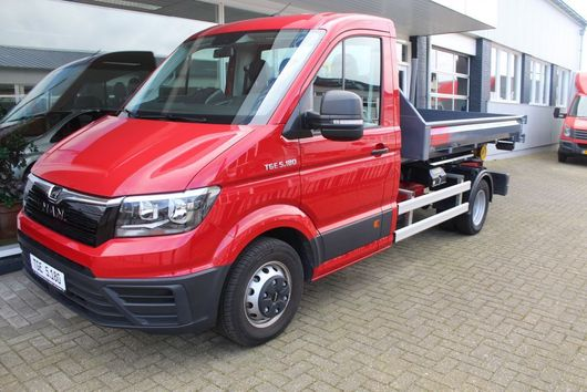 camion conteneur MAN TGE 5.180 Haakarm met container 2018