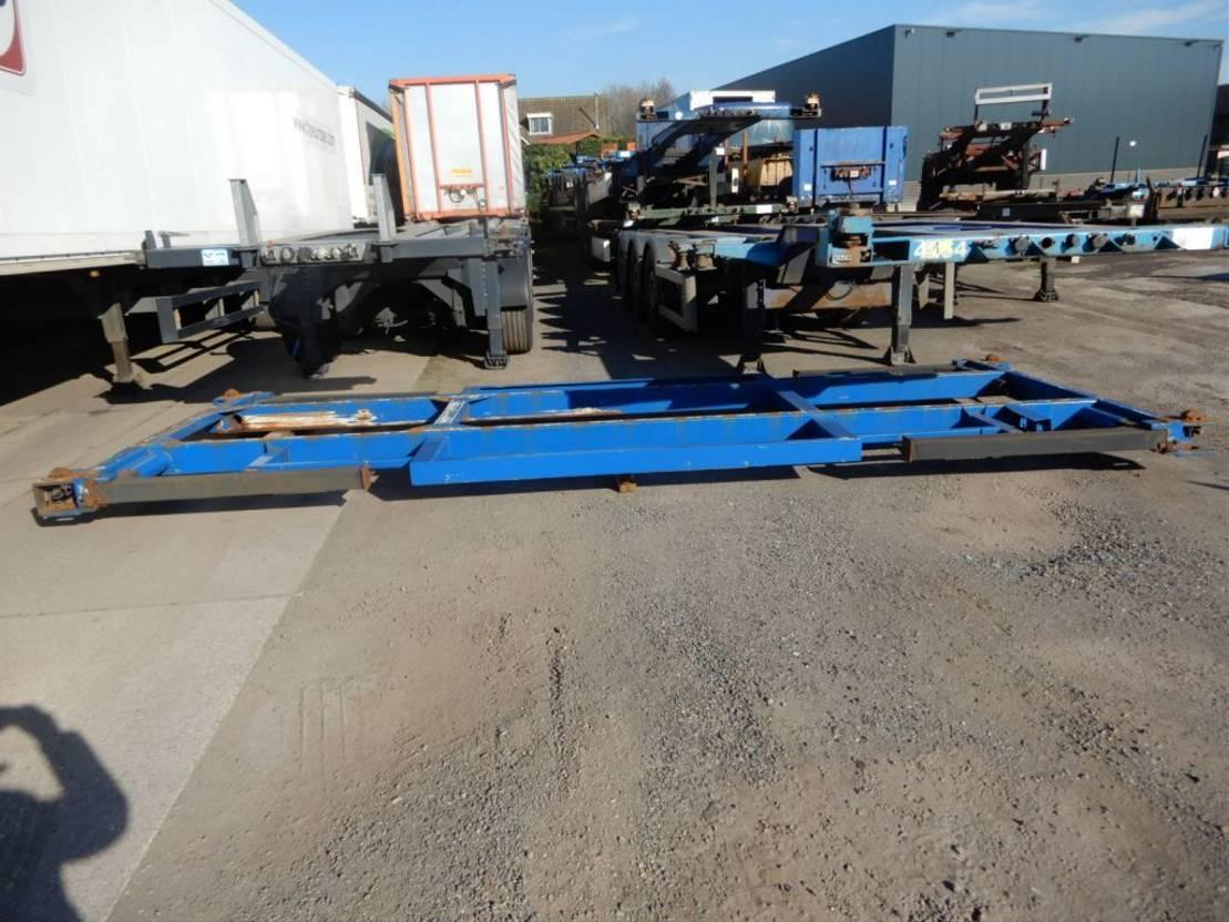 Wisselopbouw vrachtwagen onderdeel Renders 2x Afzetframe 20 FT