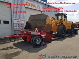 dieplader oplegger Fliegl ZTS200 Tieflader Land + Baumaschinen 30cm Höhe 2005