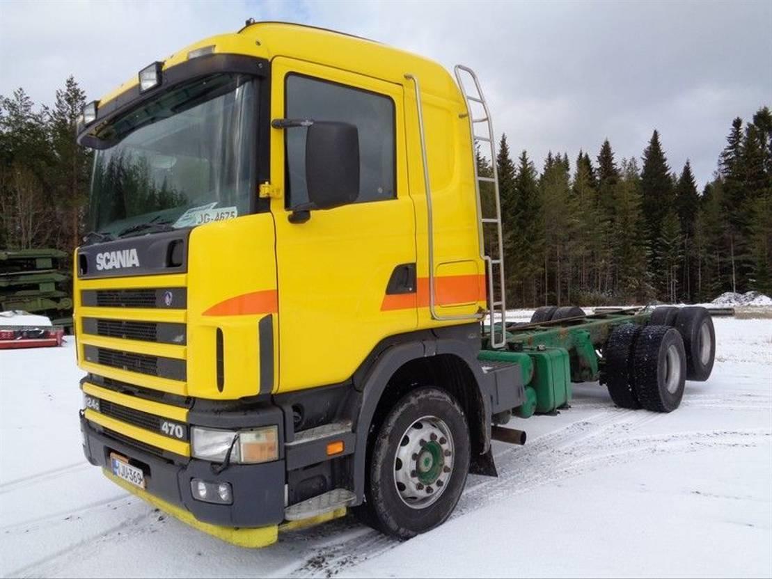 chassis cabine vrachtwagen Scania R124 R-124G 6X2 4500