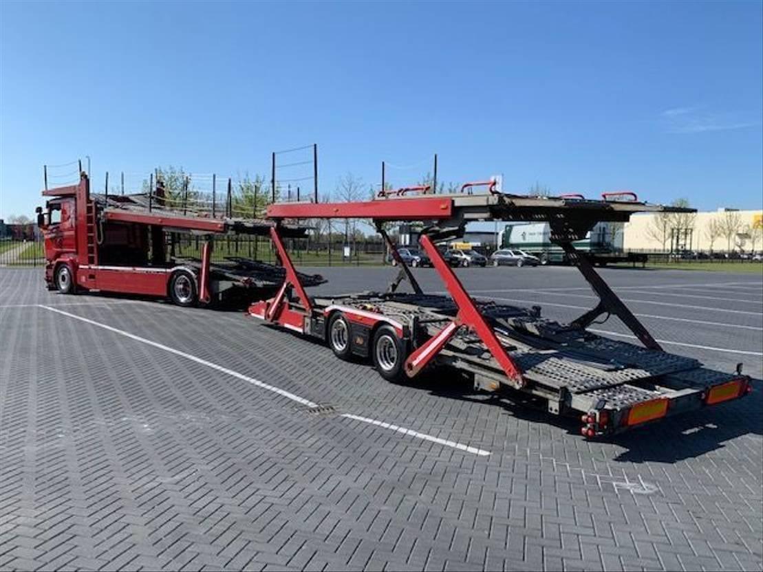 autotransporter vrachtwagen Scania R580,Retarder,Full air,Low KM  Car transport 2017