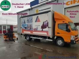 huifzeil vrachtwagen FUSO Canter 8C18 Edscha 3.5tNL Mitnahme Stapler 1.5t. 2015