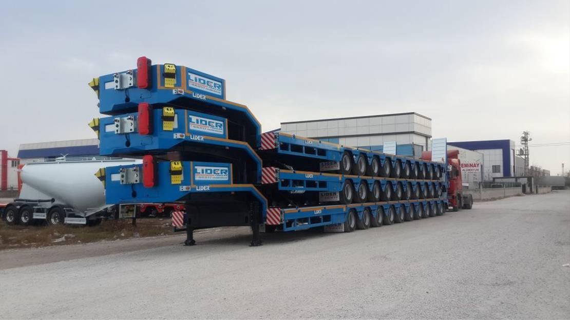 semi dieplader oplegger Lider multi axle lowbed semi trailer 2021