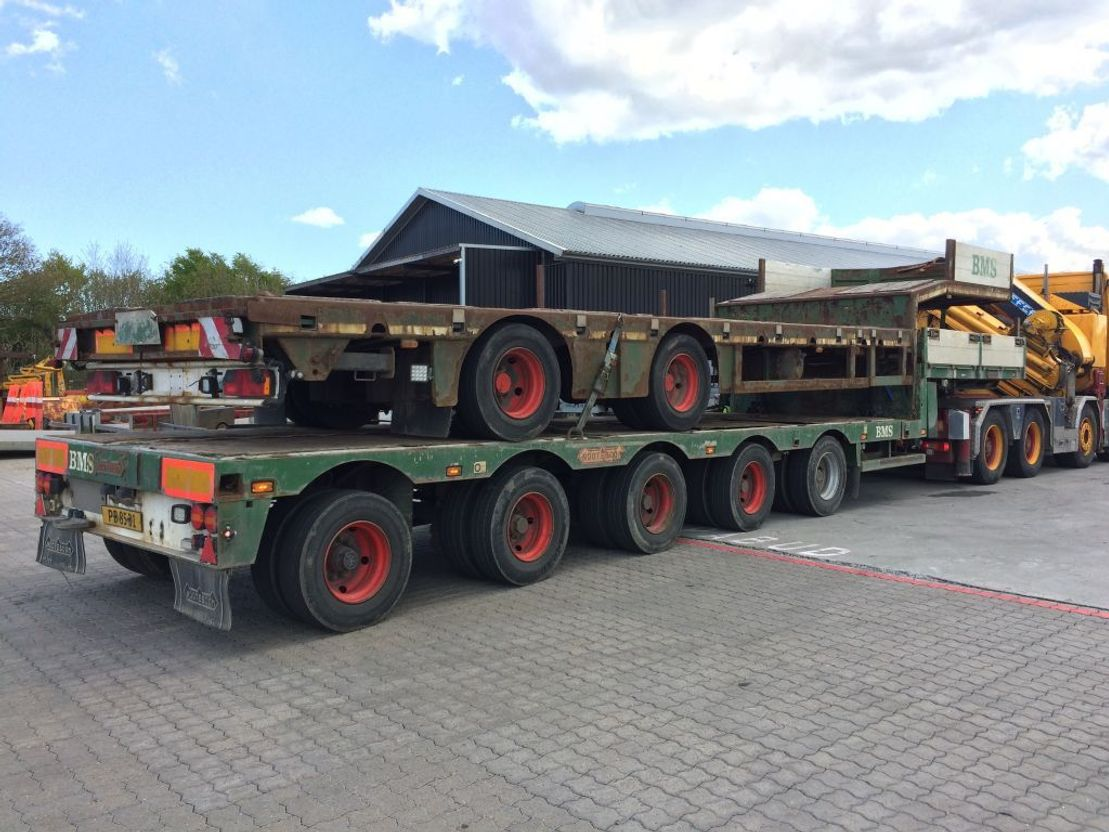 semi dieplader oplegger Nooteboom 5 x Achsen semitrailer + extenbar 1998