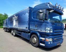 verkoop opbouw vrachtwagen Scania R400 Highline Retarder Lenkachse Schwenkwand LBW 2009