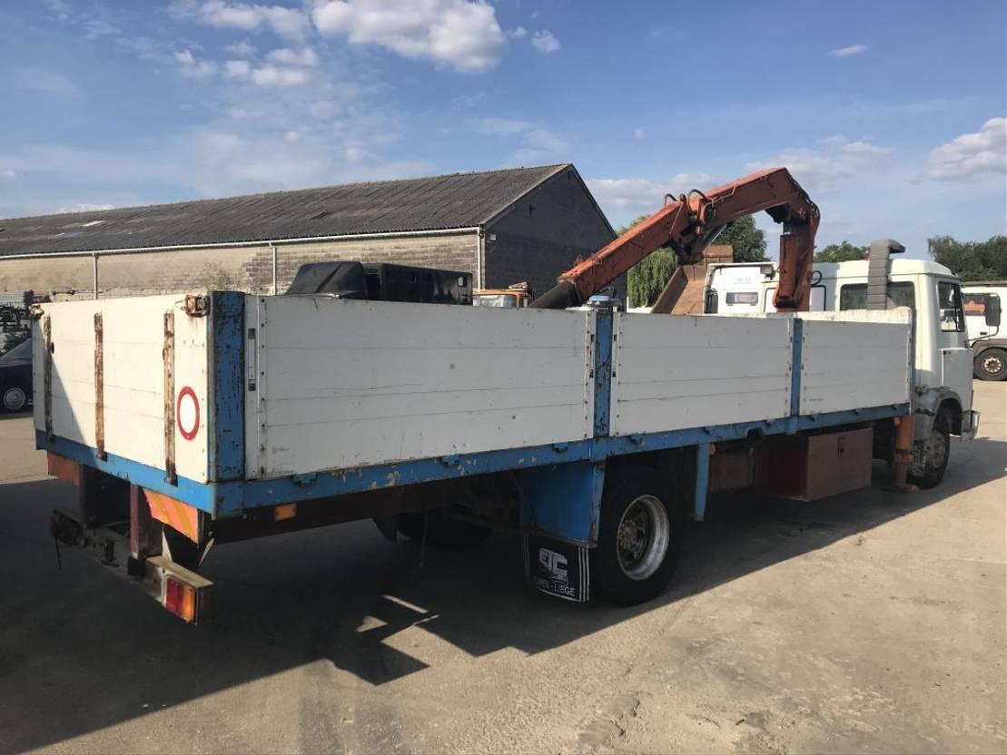 platform vrachtwagen Iveco 109-14 **FULL STEEL-BELGIAN TRUCK** 1989