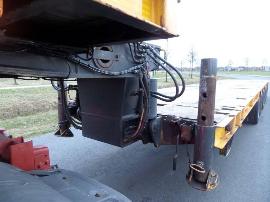 semi dieplader oplegger Goldhofer Semi-Trailer STZ-L6 65/62 1991