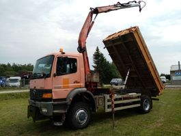 kipper vrachtwagen > 7.5 t Mercedes-Benz ATEGO 1928 4x4 3way tipper+ crane 1999