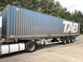 container chassis oplegger ASCA 3-AXLES CONTAINERCHASSIS + 40' CONTAINER / PORTE CONTAINER + CONTAINER 4... 2005