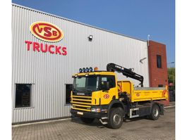 kraanwagen Scania 4x4 Hiab 085 Kipper TOP condition 2002